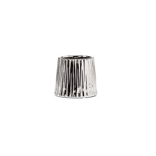 Silver Ceramic Ribbed Planter - Small - Boutique Marie Dumas