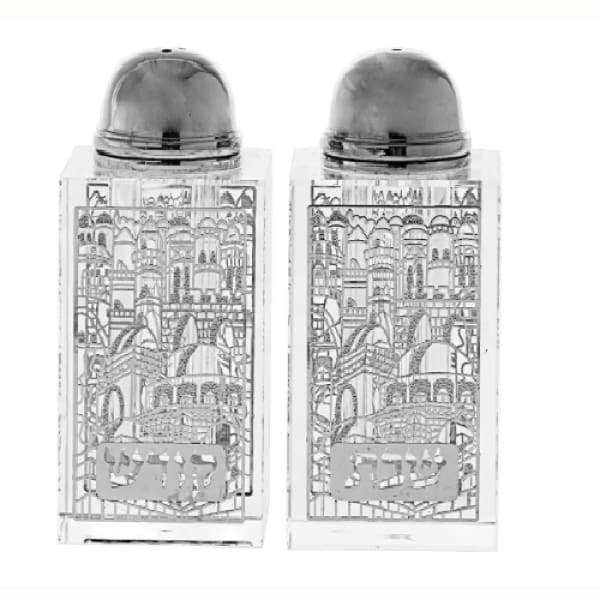Silver Sabbath Salt and Pepper Set - Boutique Marie Dumas