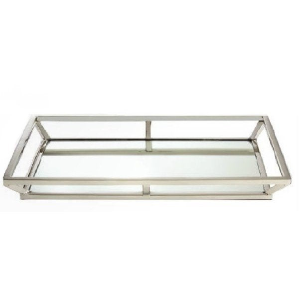 Small Rectangular Mirrored Tray - Boutique Marie Dumas