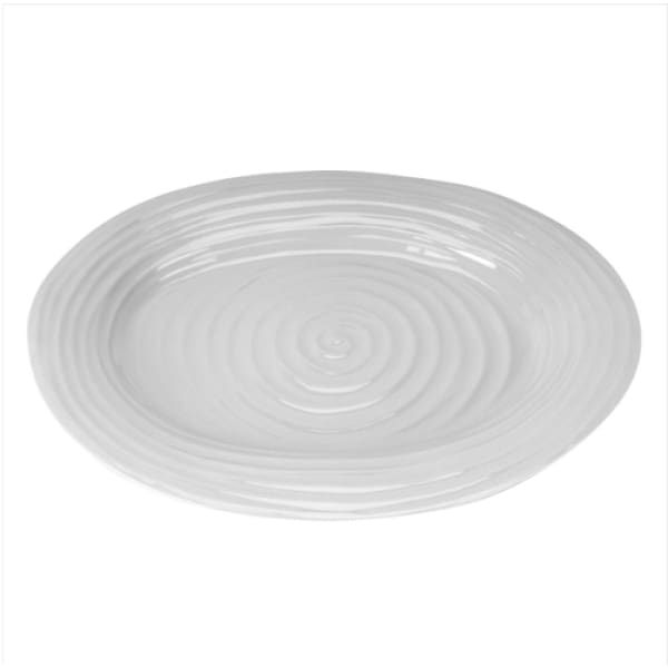 Sophie Conran Grey Medium Oval Platter - Boutique Marie Dumas