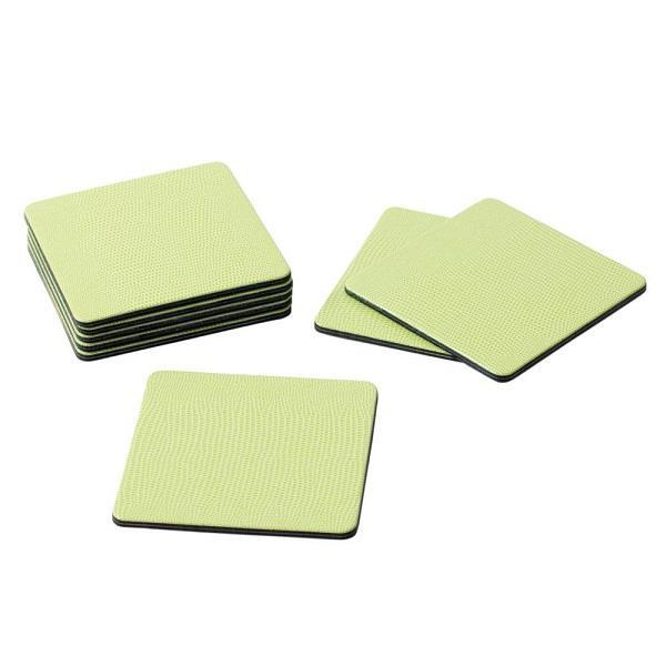 Square Lime Lizard Coasters - Boutique Marie Dumas
