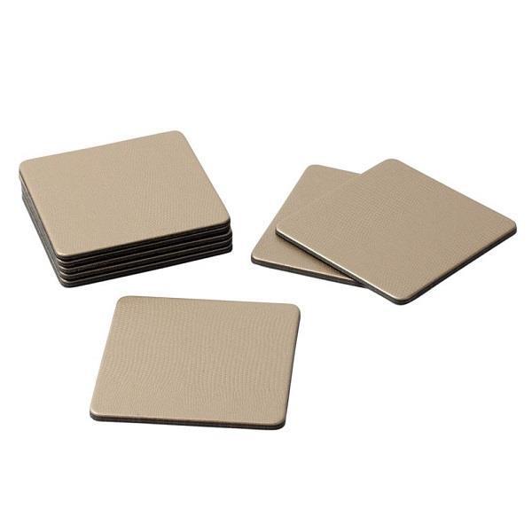 Square Platinum Lizard Coasters - Boutique Marie Dumas