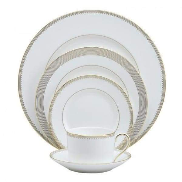 Vera Wang Golden Grosgrain 5-Pc Place Setting - Boutique Marie Dumas