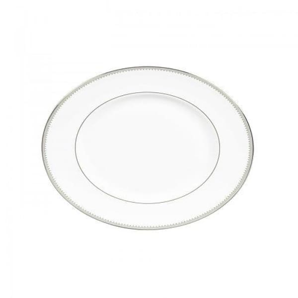 Vera Wang Grosgrain Medium Oval Platter - Boutique Marie Dumas