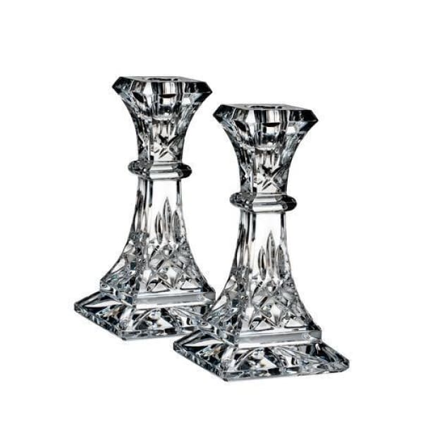 "Waterford Lismore 6"" Candlestick, Pair - Boutique Marie Dumas"
