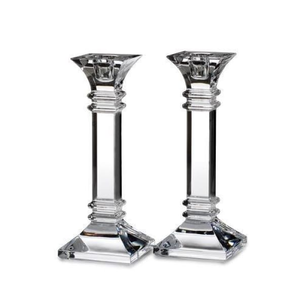 "Waterford Marquis Marquis Treviso 8"" Candlestick, Pair - Boutique Marie Dumas"