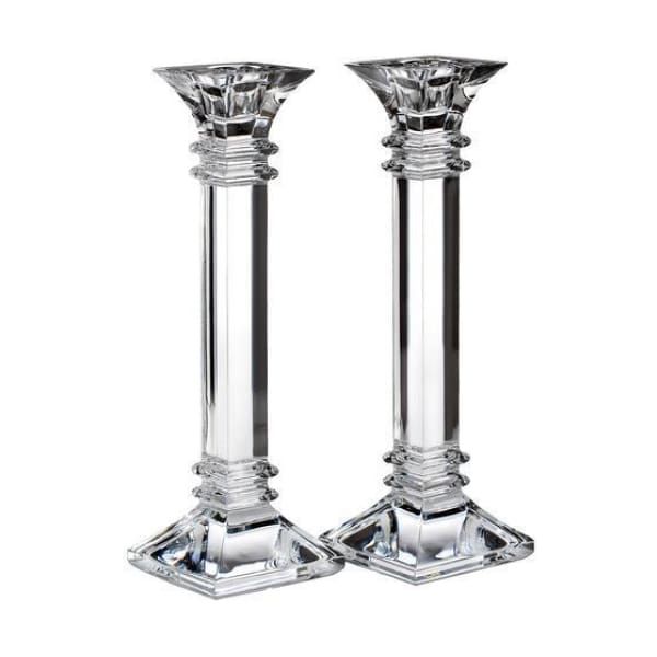 "Waterford Treviso 10"" Candlestick, Pair - Boutique Marie Dumas"
