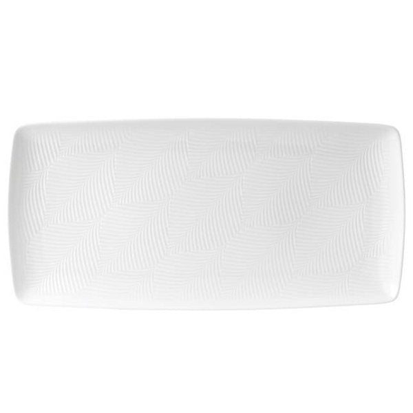 Wedgewood White Folia Rectangular Tray - Boutique Marie Dumas