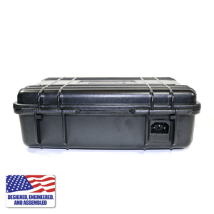 Portable Enail Case in Black - Rear View