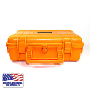 Portable Enail Case in Orange - Handle View