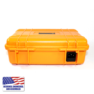 Portable Enail Case in Orange - Rear View