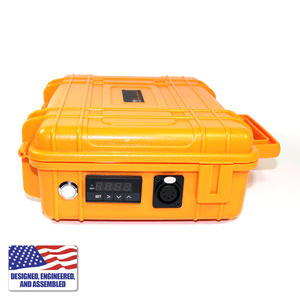 Portable Enail Case in Orange - Side B PID Controller View