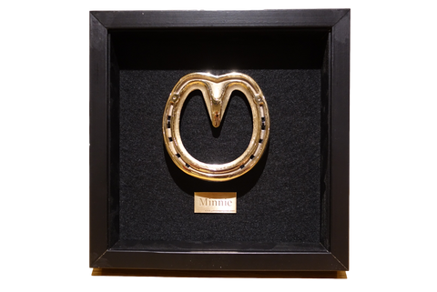 Horseshoe Framed Personalised in 18k Rose Gold