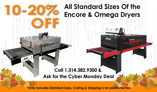 Screen Printing Conveyor Dryer Cyber Monday Sale