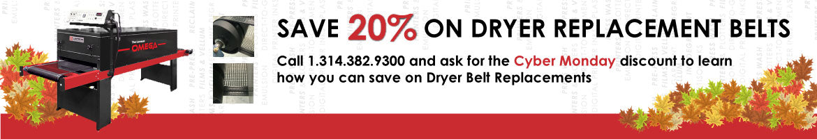 Lawson Screen & Digital Cyber Monday - Save on Screen Printing Conveyor Dryer Belt Replacements