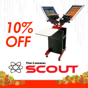 The Lawson Scout Manual T-Shirt Screen Printing Press