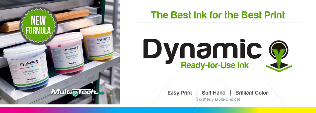 Screen Printing Plastisol Ink - Dynamic Ink Ready-for-Use Series