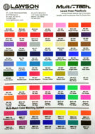 Multi-tech Color chart