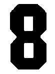 number 8 std block stencil image