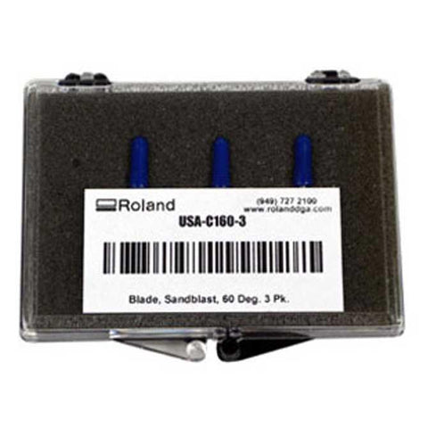 Roland 60 Degree / .10 Offset Blades for Thick Materials - Pack of 3