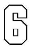 number 6 std block outline image