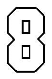 number 8 std block outline image