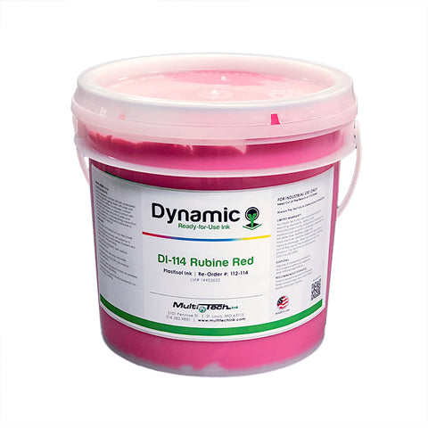 Screen Printing Dynamic Rubine Red Plastisol Ink | Lawson Screen & Digital