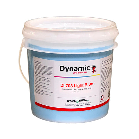 Light Blue Low Bleed Screen Printing Ink