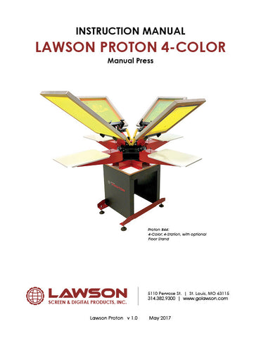 Manual T-Shirt Press Instruction Manuals | Lawson Screen & Digital Products