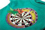 t shirt with darts decorations made by specialty materials