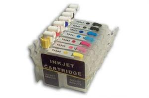 Cyan Magenta Black and Yellow ink Cartridges for Epson 2200