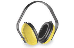yellow soft foam padded ear muffs