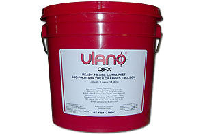 Ulano QFX Emulsion Magenta for screen printing screens