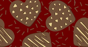 Chocolate Hearts Background