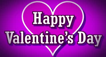 Happy Valentines Day Purple 2