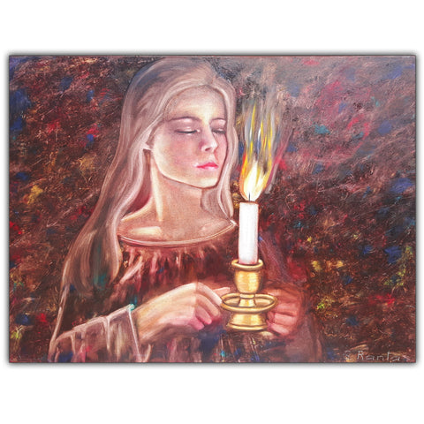 Oil Painting Candlelight