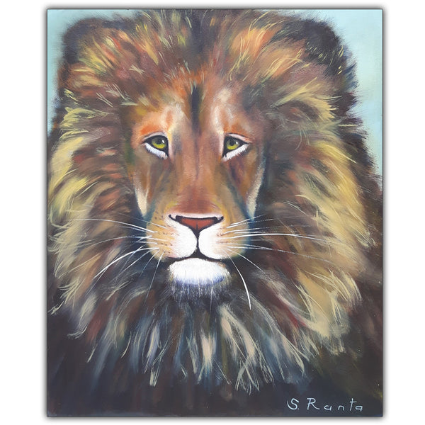 Oil Painting A Lion