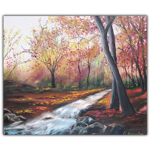 Oil Painting Autumns Forest