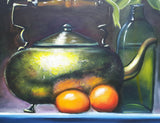 Oil Painting Teapot