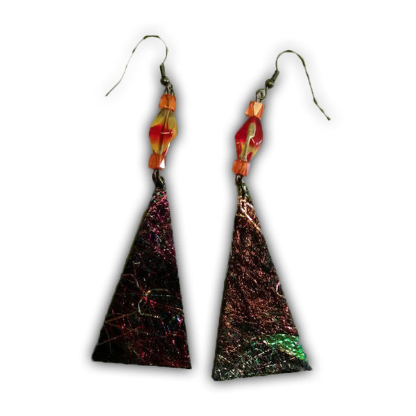 Textile Earrings - Quilting Paradise