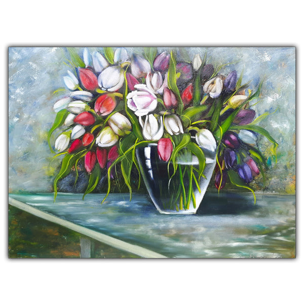 Oil Painting Flowers In A Vase