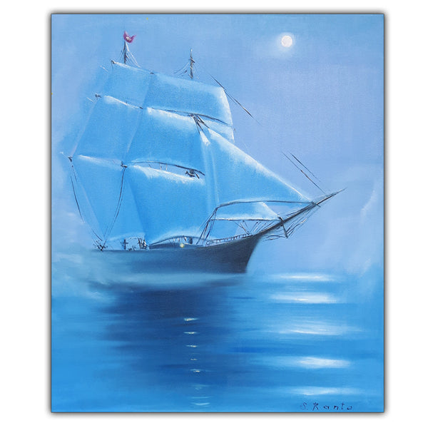 Oil Painting Ship