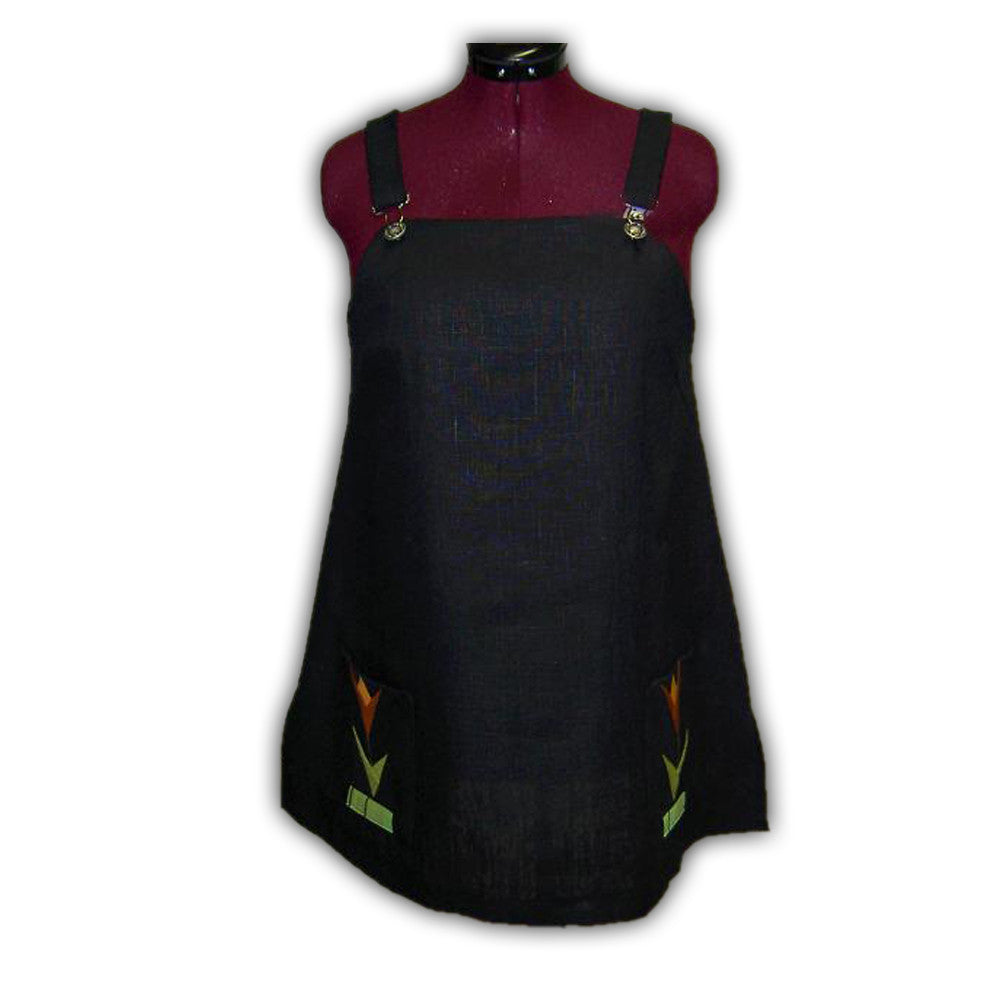 Linen Pinafore Dress - Quilting Paradise