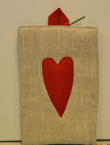 Linen Potholder Heart