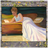 Oil Painting Reading Moment