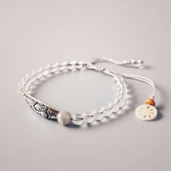 Lotus & Crystal Bracelet