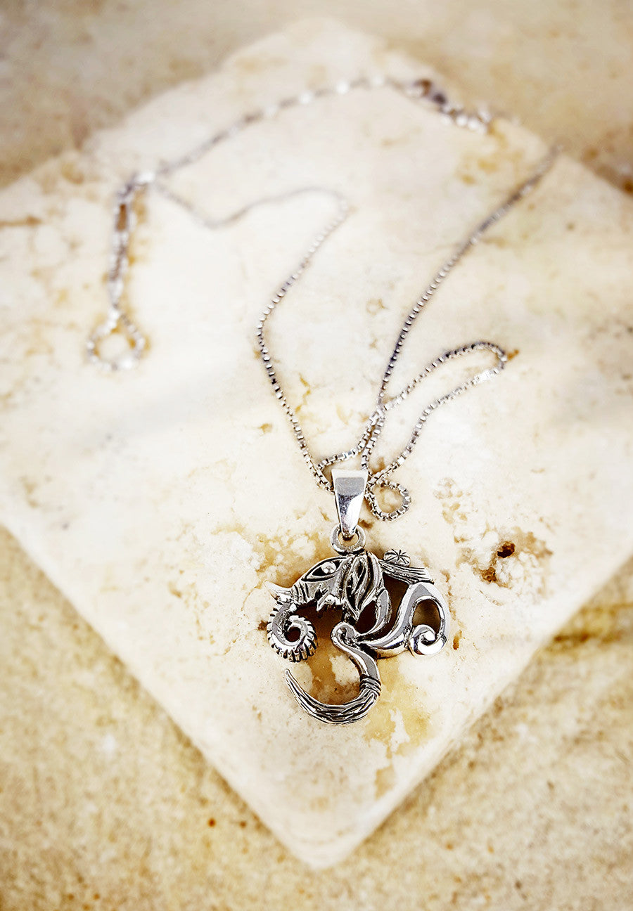 Elephant Om Necklace