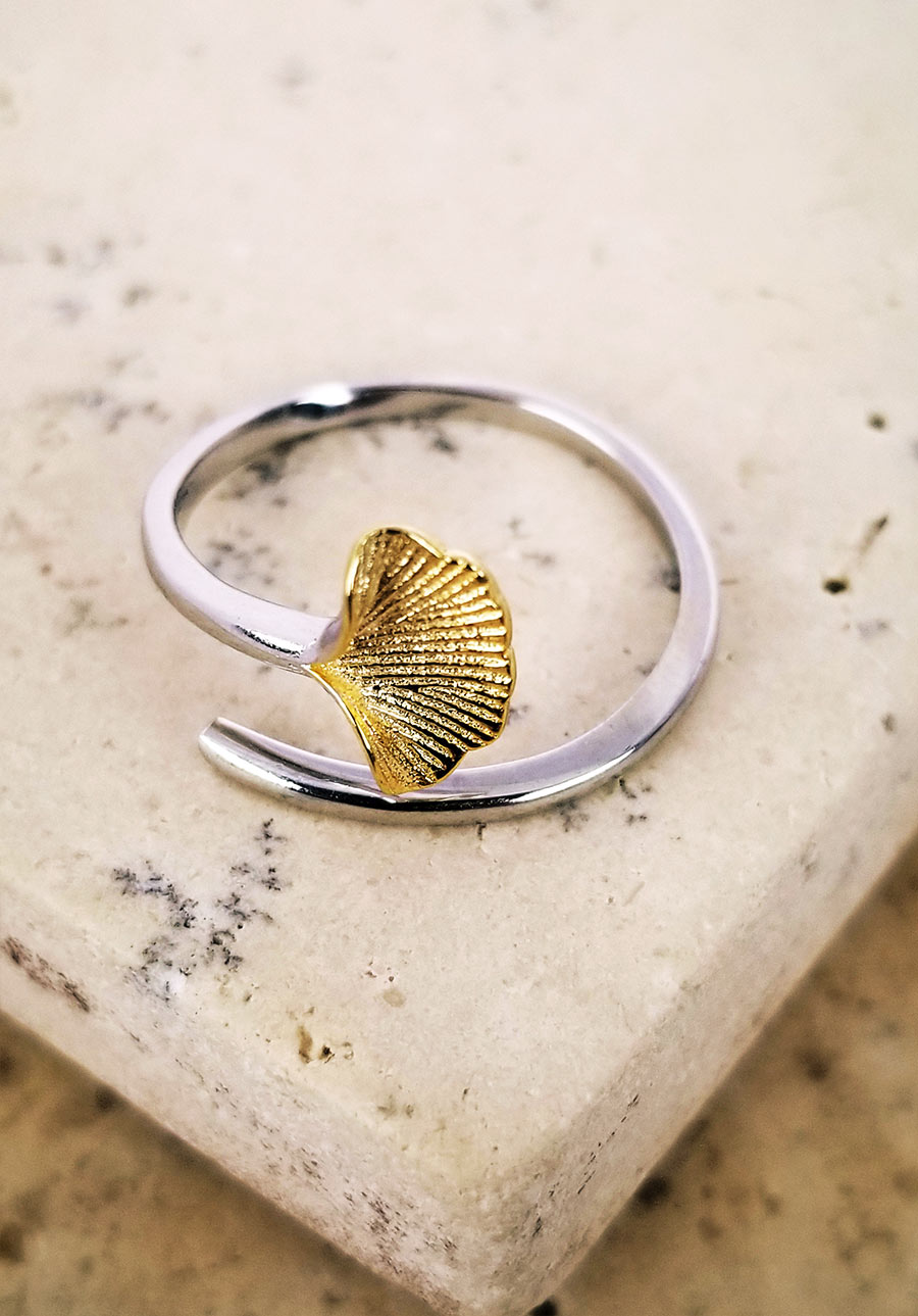 Golden Ginkgo Ring