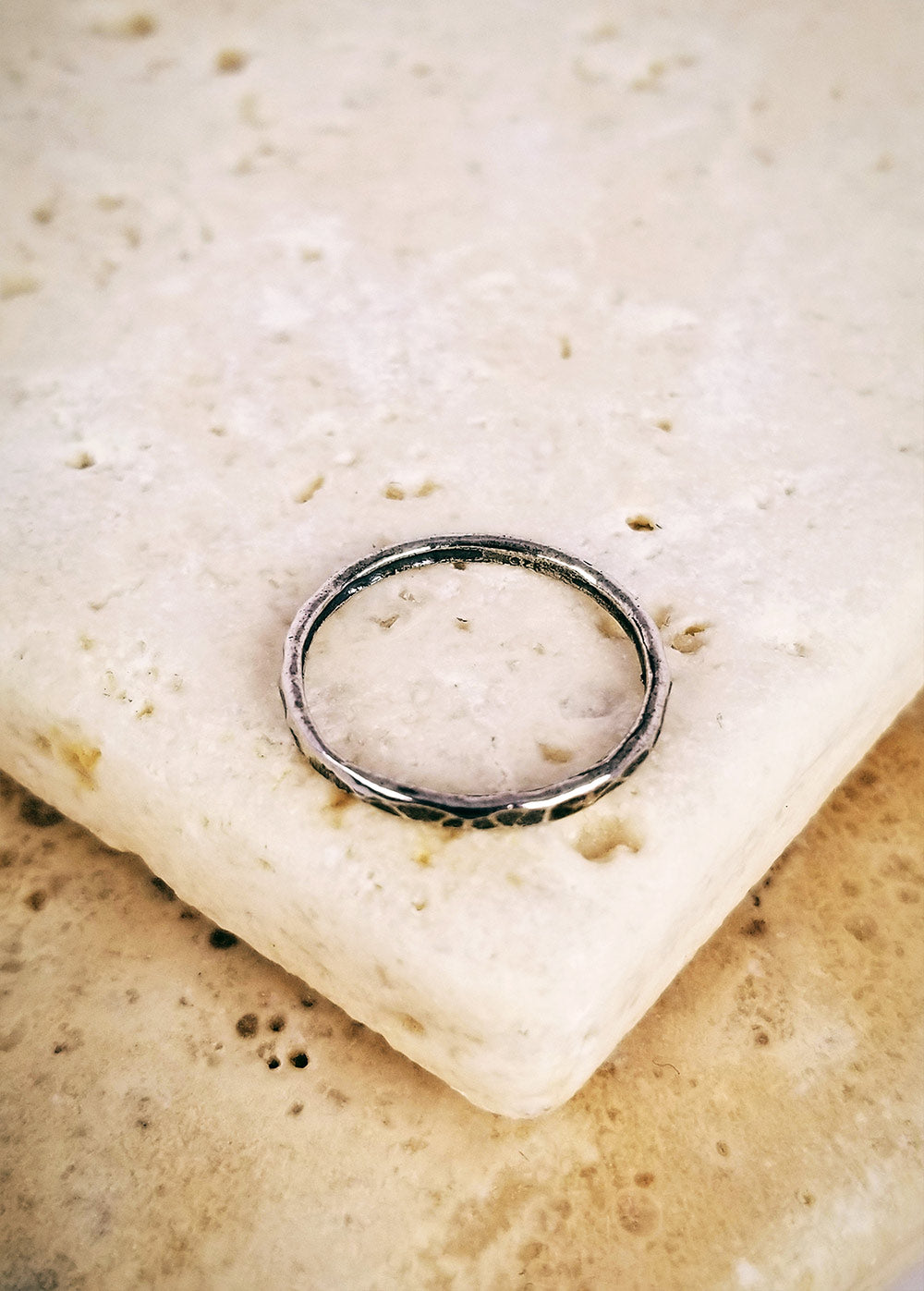 Vintage Hammered Stacker Ring