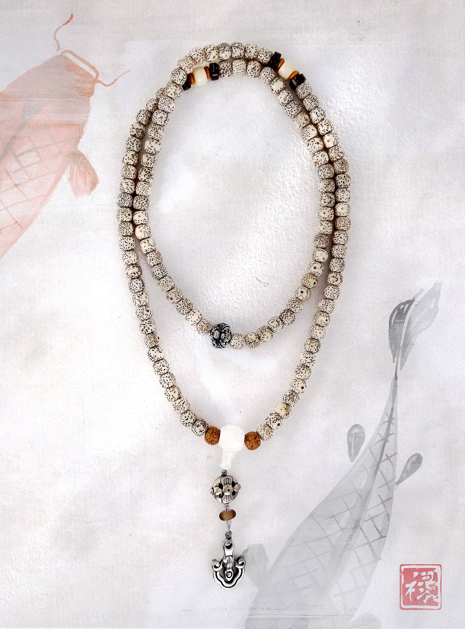 Tibetan Bodhi Mala Necklace